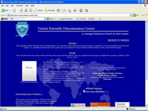 Unicist Scientific Dissemination Center - WEB SITE MODEL